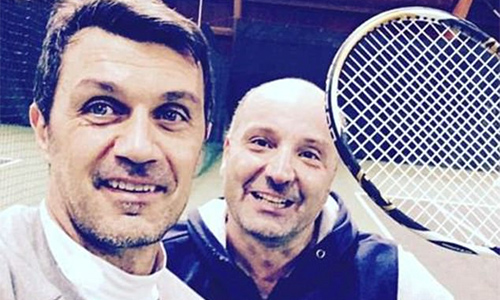 Paolo Maldini thi đấu quần vợt chuyên nghiệp ở tuổi 49