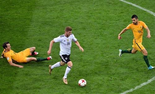 Confed cup 2017, Australia 2-3 Đức