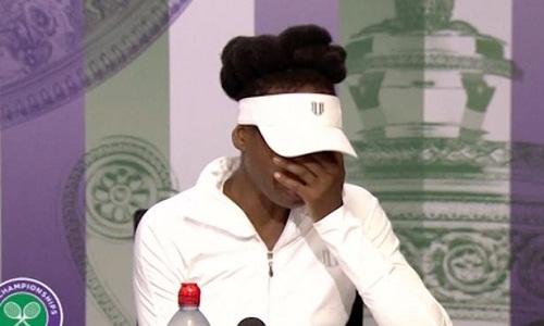 Venus Williams bật khóc trong phòng họp báo Wimbledon