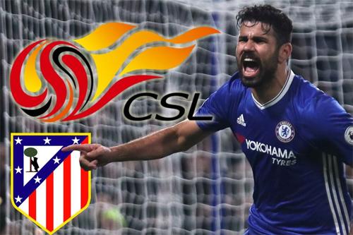 Atletico sắp mua Costa, rồi cho đội bóng Trung Quốc mượn