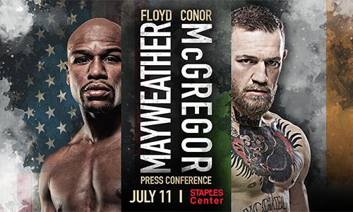 McGregor lần đầu chạm mặt Mayweather trước thềm đại chiến