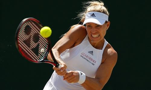 Muguruza loại hạt giống số một Kerber ở vòng bốn Wimbledon