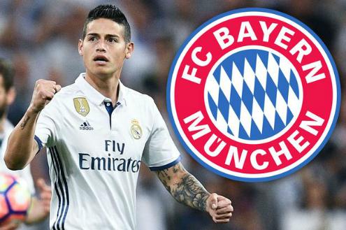 Bayern vượt mặt Man Utd, sở hữu James Rodriguez