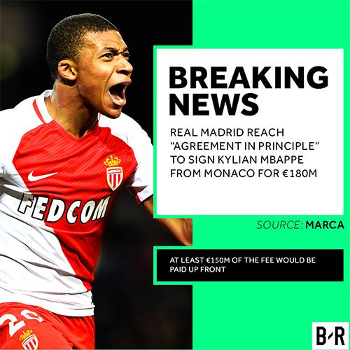 """Marca: """"Real Madrid chốt mua Mbappe với giá 209 triệu đôla"""""""