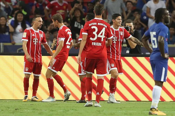 Bayern hạ Chelsea trong trận ra mắt của Morata