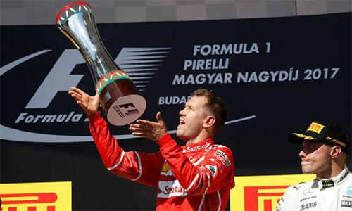Vettel về nhất GP Hungary, nới rộng cách biệt với Hamilton