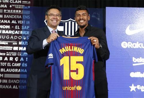 Chủ tịch của Barca lý giải việc mua Paulinho