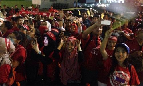 Indonesia mừng như vô địch sau khi thủ hòa Việt Nam