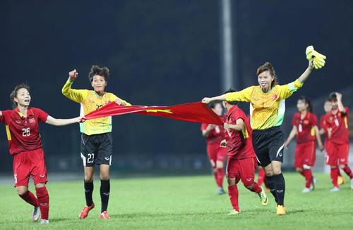 Tuyển nữ Việt Nam nhận hơn 4 tỷ tiền thưởng cho HC vàng SEA Games