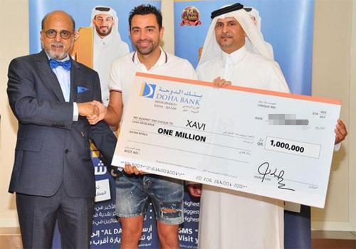 Xavi trúng xổ số ở Qatar