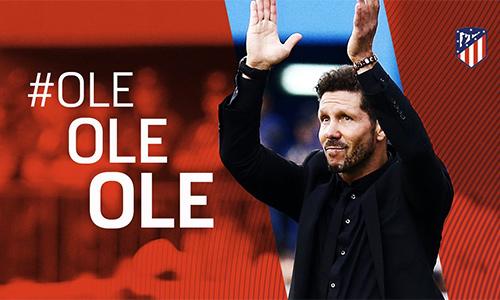 Diego Simeone ở lại Atletico đến năm 2020