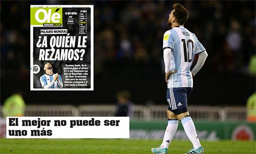 Messi lại hứng búa rìu dư luận vì kết quả tệ của Argentina