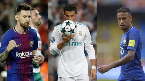 "Ronaldo, Messi, Neymar vào top ba giải ""The Best"""