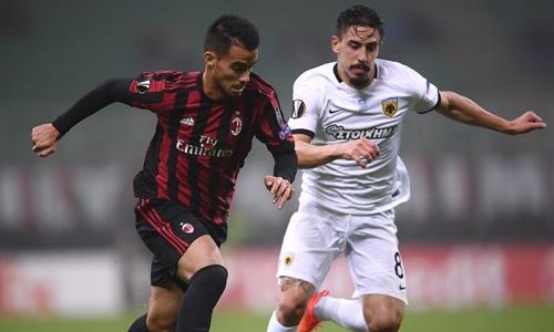 Milan tiếp đà khủng hoảng bằng trận hòa ở Europa League