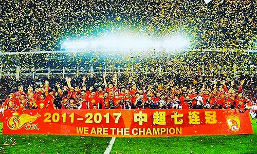 Đội của HLV Scolari lần thứ bảy liên tiếp vô địch Trung Quốc