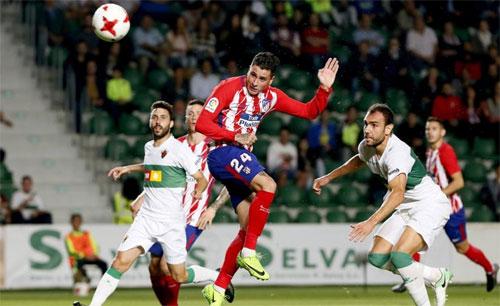 Atletico chịu hòa với đội hạng Ba