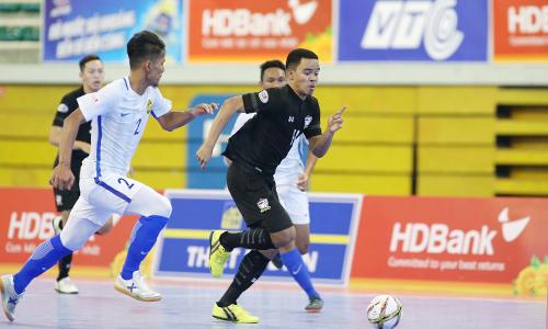 Futsal Thái Lan vào bán kết sau khi ghi được 37 bàn thắng