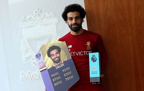 Salah nhận giải Cầu thủ hay nhất Ngoại hạng Anh tháng 11