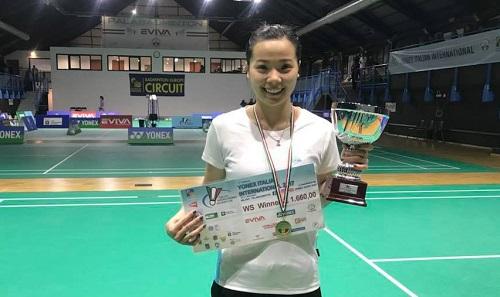 Thùy Linh vô địch giải cầu lông quốc tế Italy