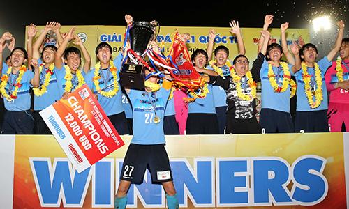 U21 Yokohama bảo vệ thành công chức vô địch giải U21 quốc tế. Ảnh: Đ.L.