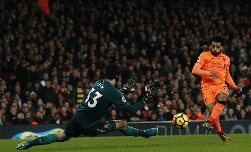 Salah ghi bàn thứ 15 tại Ngoại hạng Anh mùa này. Ảnh: AFP.
