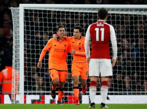 Firmino ghi bàn ấn định tỷ số 3-3. Ảnh: Reuters.