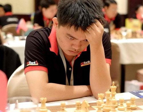 GM Nguyễn Đức Hòa ở giải HD Bank 2017.
