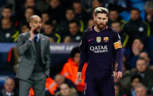 Guardiola và Man City từng đánh bại Barca trên sân Nou Camp ở vòng bảng Champions League mùa trước. Ảnh: Reuters.