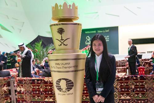 Thảo Nguyên xếp thứ năm chung cuộc ở giải cờ nhanh thế giới