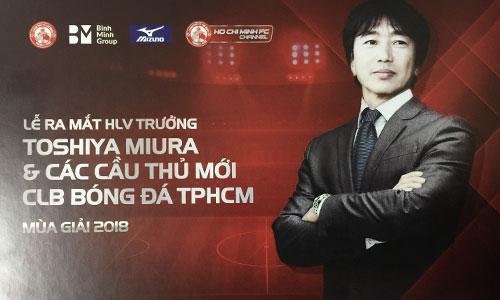 HLV Miura trở lại Việt Nam dẫn dắt đội bóng do học trò cũ Lê Công Vinh quảnlí.