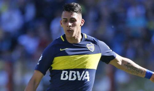 Cầu thủ chạy cánh Cristian Pavon của Boca Juniors. Ảnh:AFP.