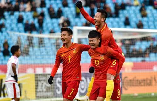 Chủ nhà Trung Quốc có ba điểm đầu tiên tại vòng chung kết U23 châu Á.