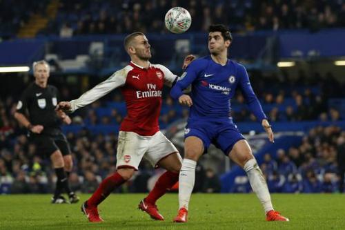 Arsenal và Chelsea phải chờ tới lượt về ở sân Emirates để phân thắng bại. Ảnh:AFP.