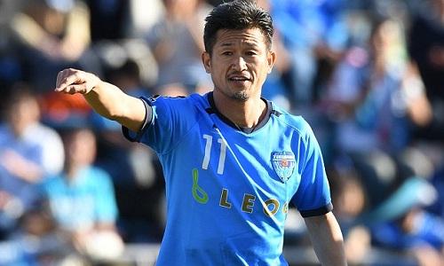 Miura vẫn tiếp tục thi đấu ở tuổi 50. Ảnh: AFP.