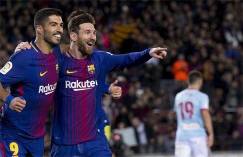 Celta Vigo không thể ngăn Barca đi tiếp trên sân Nou Camp. Ảnh: DS