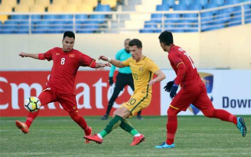Đánh bại Australia, Việt Nam có trận thắng đầu tiên ở giải U23 châu Á. Ảnh: Anh Khoa.
