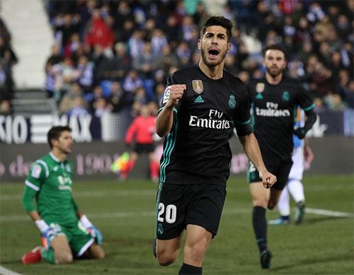 Asensio vô lê ghi bàn, Real đặt một chân vào bán kết Cup Nhà vua