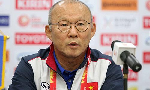HLV Park Hang-seo tự tin cùng U23 Việt Nam đấu U23 Iraq ở tứ kết vào ngày mai. Ảnh: Anh Khoa.