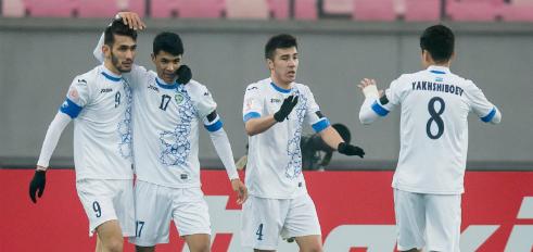 Các cầu thủ Uzbekistan tạo nên cơn địa chấn ở giải U23 châu Á. Ảnh: AFC.
