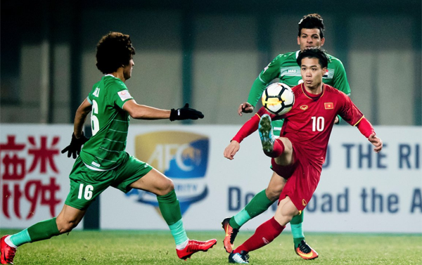 Việt Nam trải qua trận đấu giàu cảm xúc với Iraq.