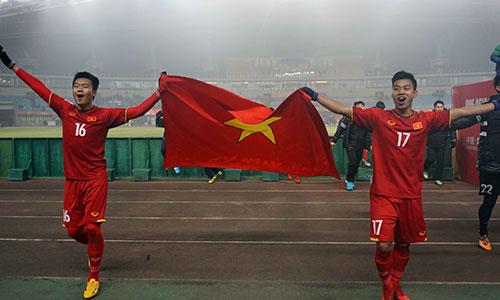 Các cầu thủ U23 Việt Nam đang viết nên chuyện cổ tích ở VCK U23 châu Á. Ảnh: Anh Khoa.