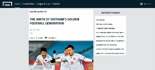 Truyền thông khu vựcdự báo Việt Nam sẽ thống trị bóng đá Đông Nam Á. Ảnh: Goal.