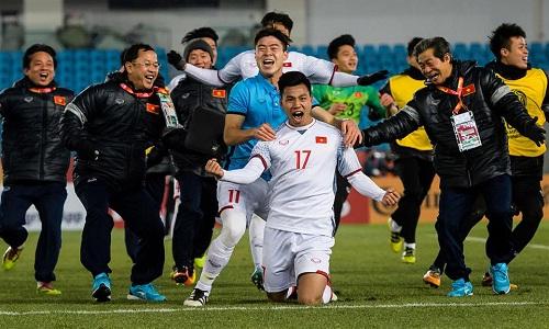 Hành trình của U23 Việt Nam được so sánh với hành trình của Hàn Quốc tại World Cup 2002. Ảnh: AFC.