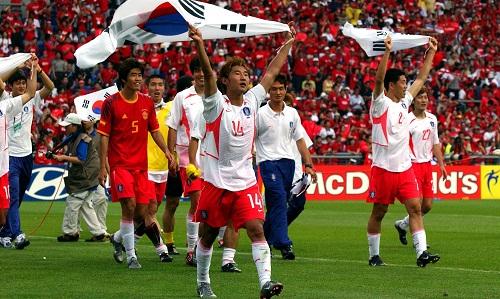 Vào bán kết World Cup là kỳ tích lịch sử của bóng đá Hàn Quốc. Ảnh: PA.