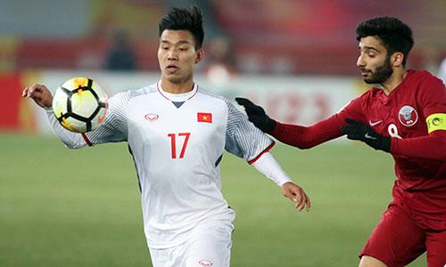 Văn Thanh là một trong sáu cầu thủ của HAGL đang cùng U23 Việt Nam thi đấu ở VCK U23 châu Á. Ảnh: Anh Khoa.