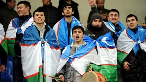 CĐV Uzbekistan tại vòng chung kết U23 châu Á 2018. Ảnh: AFC.