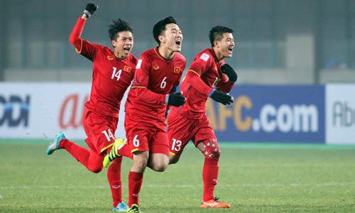 Việt Nam là đội có số phút thi đấu nhiều nhất tại vòng chung kết U23 châu Á 2018. Ảnh: Anh Khoa.