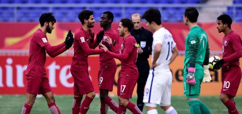 Qatar đoạt HC đồng sau trận đấu khó nhằn với Hàn Quốc. Ảnh: AFC.