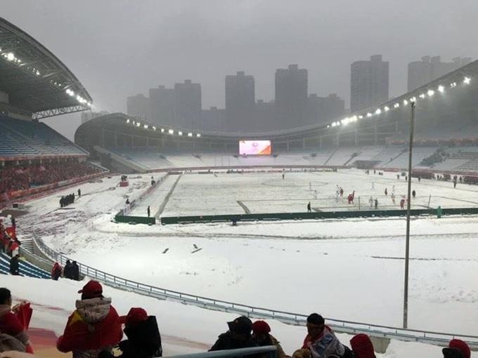Trận khổ chiến dưới mưa tuyết của U23 Việt Nam