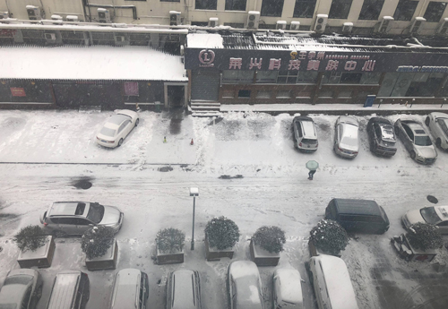 Tuyết rơi trắng xóa ở Thường Châu.